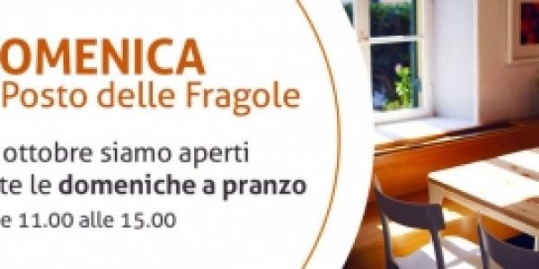 Il Posto delle Fragole è aperto anche la domenica a pranzo!