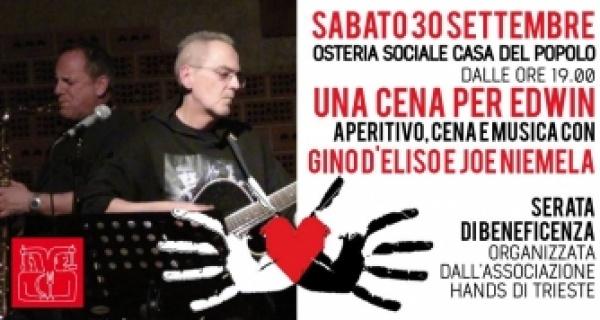 Una cena per Edwin. Gino D'Eliso & Joe Niemela in concerto