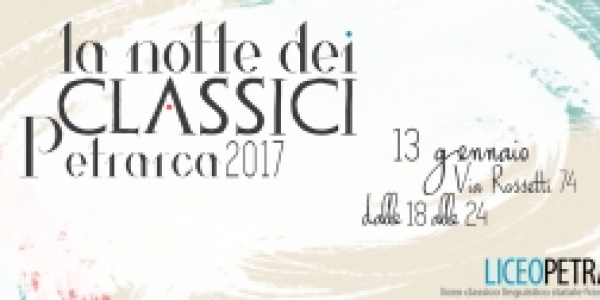 "Radio Fragola media partner de ""La Notte dei Classici del Liceo Petrarca"""