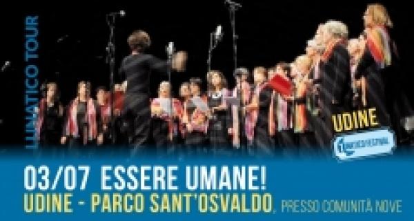 """Lunatico tour a Udine: al Parco Sant'Osvaldo il concerto """"Essere Umane!"""""""