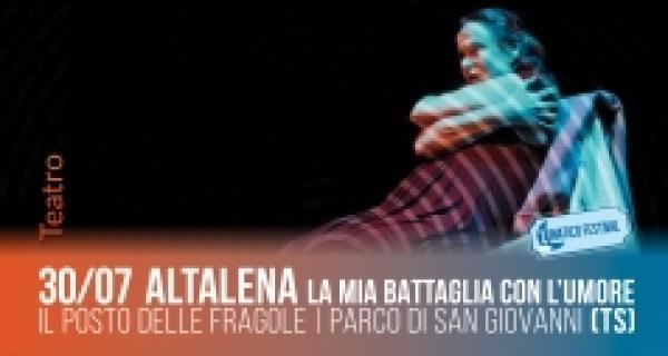 """Martedì 30 Luglio """"Altalena – la mia battaglia con l'umore"""" al Parco di San Giovanni"""
