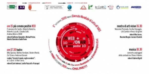 1° dicembre dalle 15 alle 19, più o meno positivi #10 on air/on web, Giornata Mondiale di Lotta all'AIDS Trieste