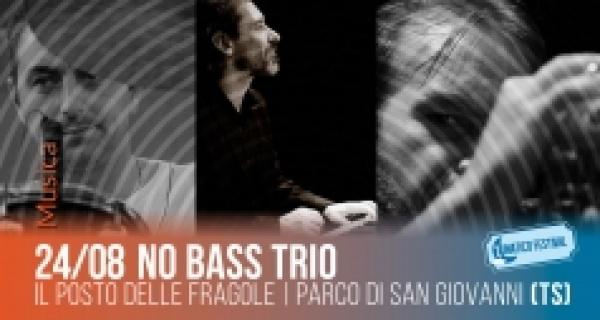 Sabato 24 agosto No Bass trio al Lunatico Festival