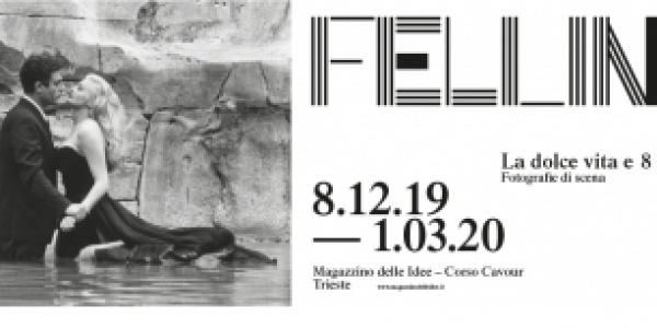"""La mostra """"Fellini. La Dolce vita – 8 ½ Fotografie di scena"""" dall'8 dicembre al 1° marzo 2020 al Magazzino delle idee"""