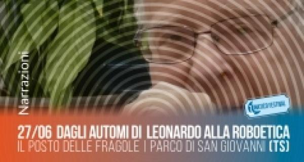 """27 giugno, incontro con Giuseppe O. Longo: """"Dagli automi di Leonardo alla roboetica"""""""